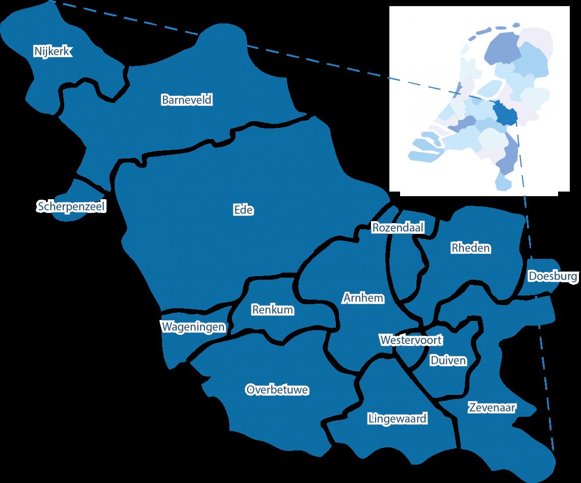 Gelderland-Midden is een regio in het Oosten van het land en bestrijkt het middendeel van de provincie Gelderland.
