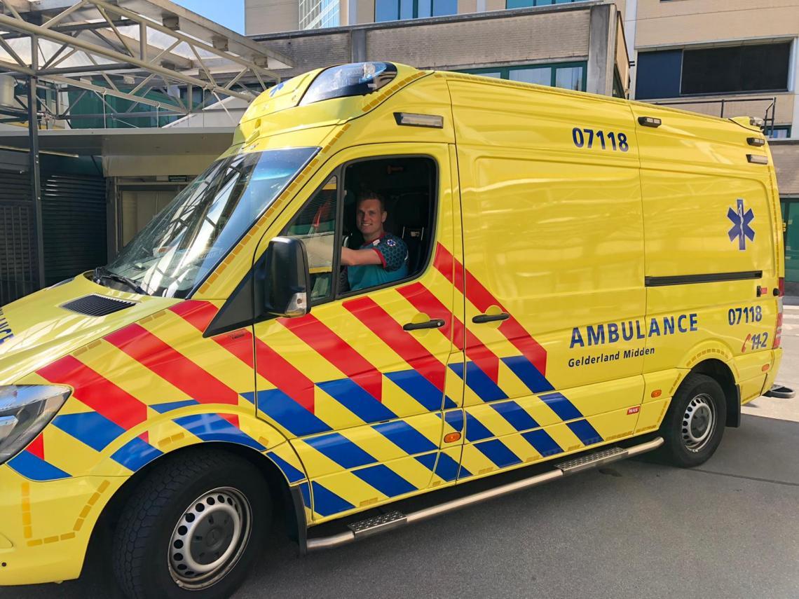Ambulancechauffeur Thomas ten Hoedt
