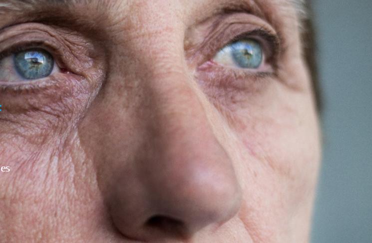 Oudere vrouw ogen